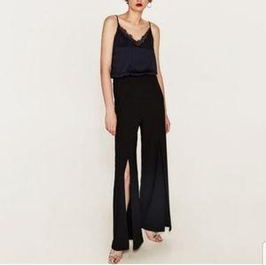 || ZARA || XS Blue & Black Jumpsuit NWT